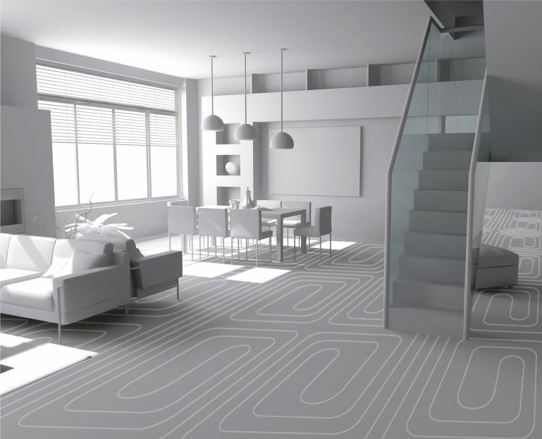 Immagine Altri materiali edili - schema del riscaldamento a pavimento