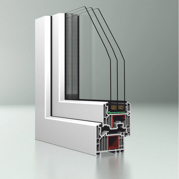 Immagine Infissi in PVC e in alluminio - spaccato della finestra