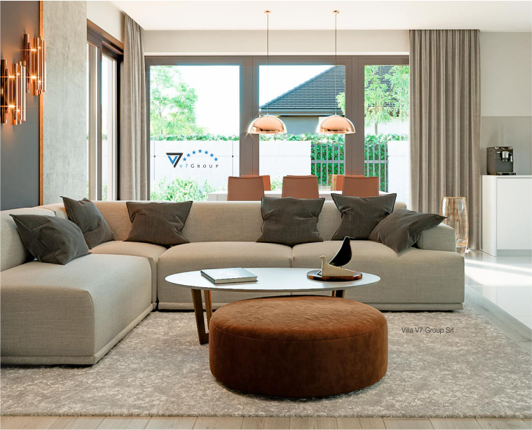 Immagine Pacco 3 Riviste - soggiorno in stile moderno - baner piccolo