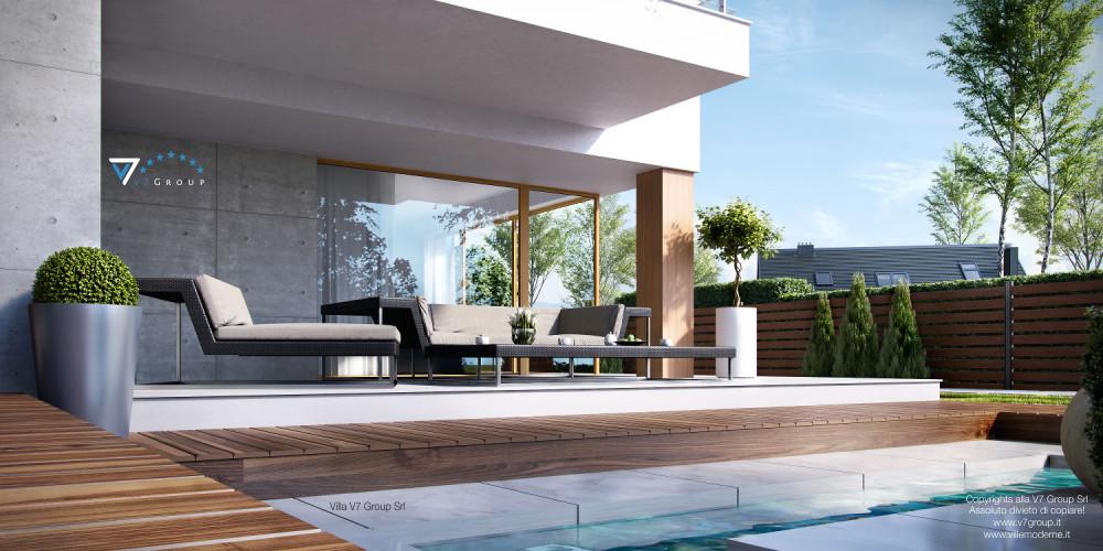 Immagine Pacco 3 Riviste - vista terrazzo esterno della Villa V19
