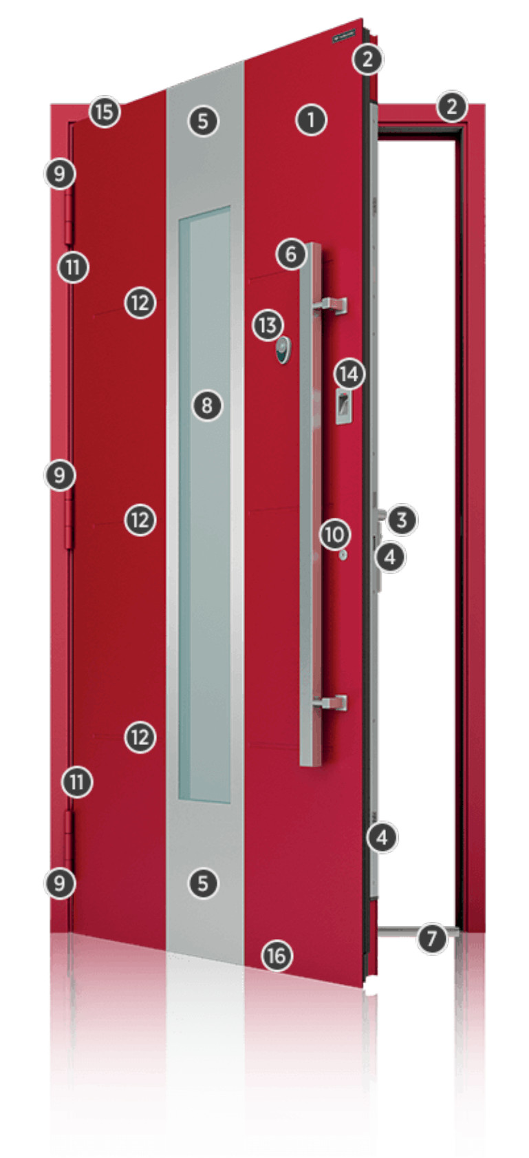 Immagine Porte - presentazione porta rossa