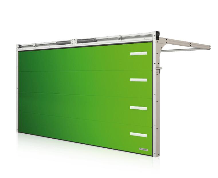 Immagine Portoni da garage - portone di colore verde-giallo