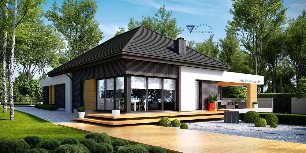 Immagine Rivista - Ville in Stile Moderno - vista giardino di Villa V27