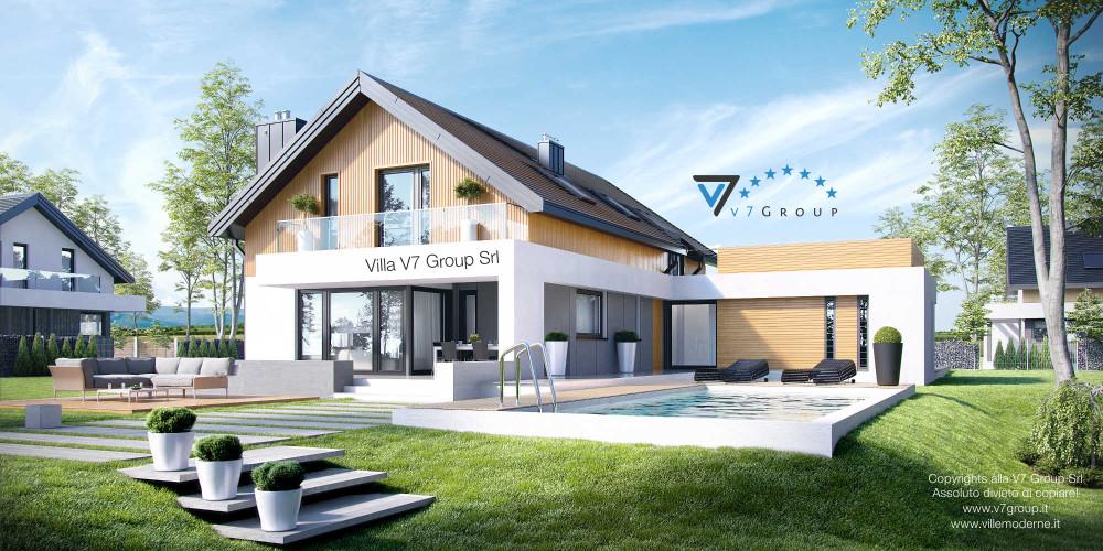 Immagine link Villa V1 (progetto originale) - vista giardino Villa V1 ENERGO
