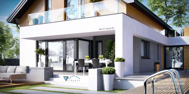 Immagine grande Villa V1 (progetto originale) - vista giardino in dettaglio