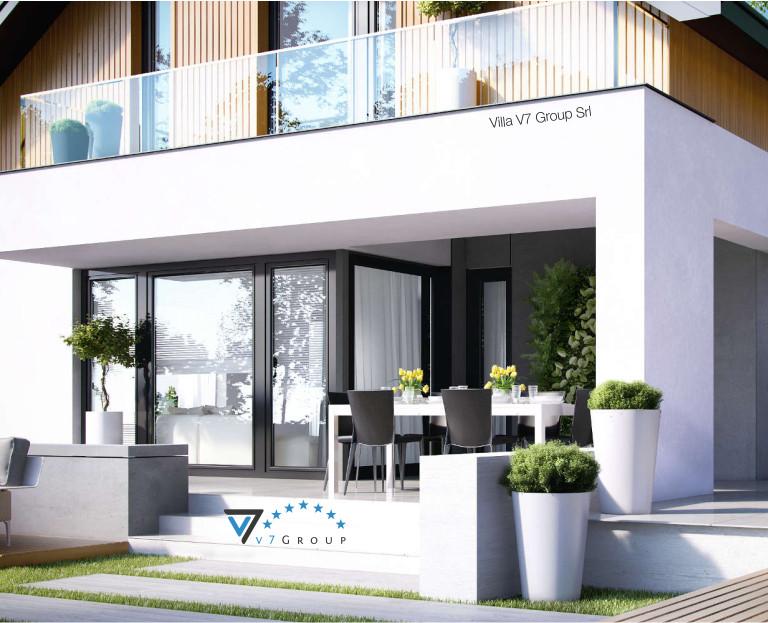 Immagine Villa V1 (progetto originale) - vista giardino dettagliata - piccola