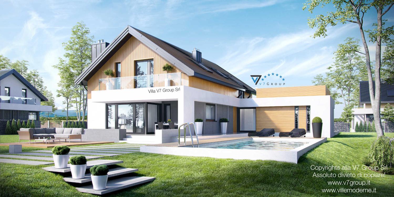 Immagine Villa V1 (progetto originale) - vista giardino