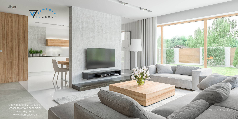 Immagine Villa V11 - interno 2 - soggiorno e sala da pranzo