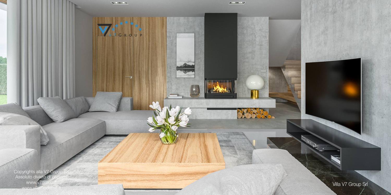 Immagine Villa V11 - interno 3 - soggiorno e corridoio
