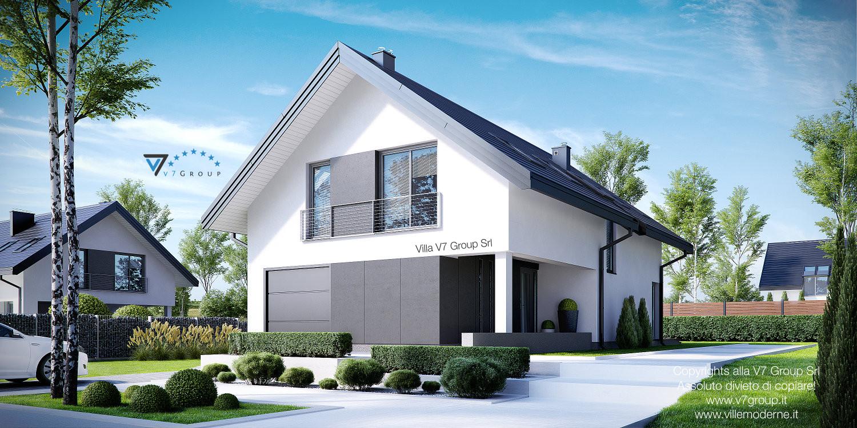 Immagine Villa V12 - il garage e la parte frontale della casa