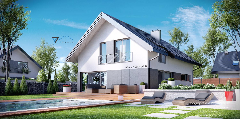 Immagine Villa V12 - la piscina e il terrazzo esterno della casa