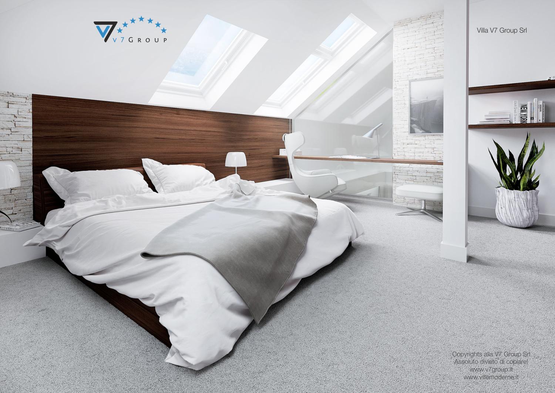 Immagine Villa V13 ENERGO - il letto nella camera matrimoniale
