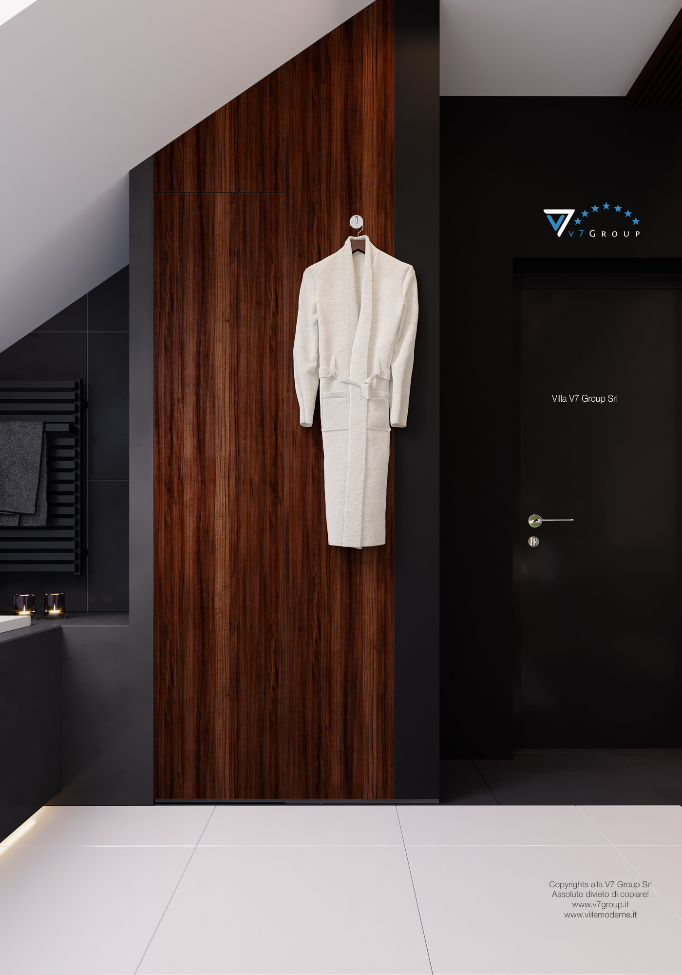 Immagine Villa V13 ENERGO - l'armadio in legno nel bagno