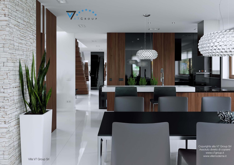 Immagine Villa V13 ENERGO - la sala da pranzo e la cucina