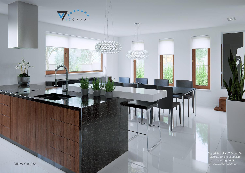 Immagine Villa V13 ENERGO - il tavolo nero nella sala da pranzo
