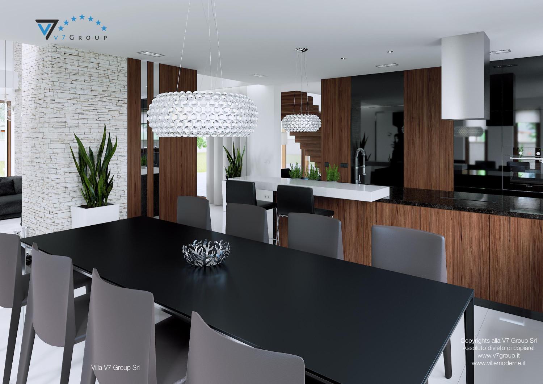 Immagine Villa V13 ENERGO - il tavolo nero e le sedie grigie