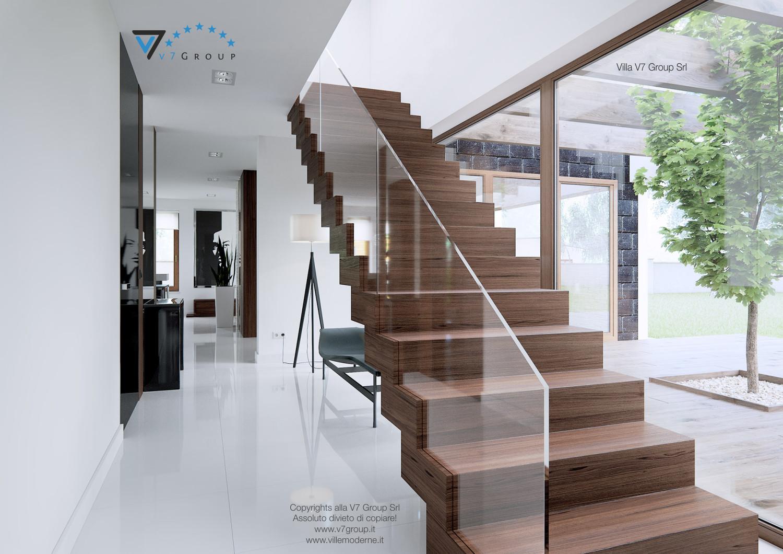 Immagine Villa V13 ENERGO - le scale in legno nel corridoio