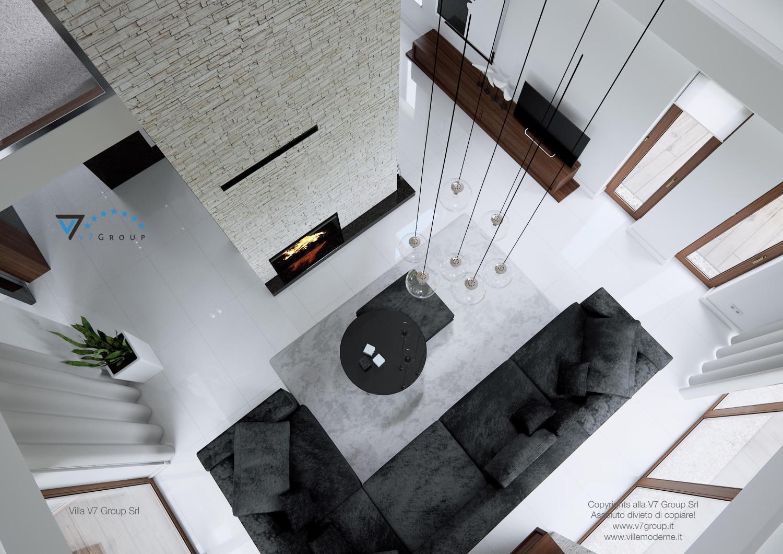 Immagine Villa V13 - il soggiorno con la vista dall'alto