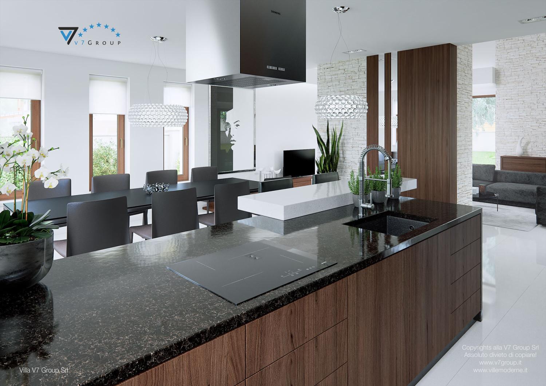 Immagine Villa V13 - i mobili moderni della cucina grande