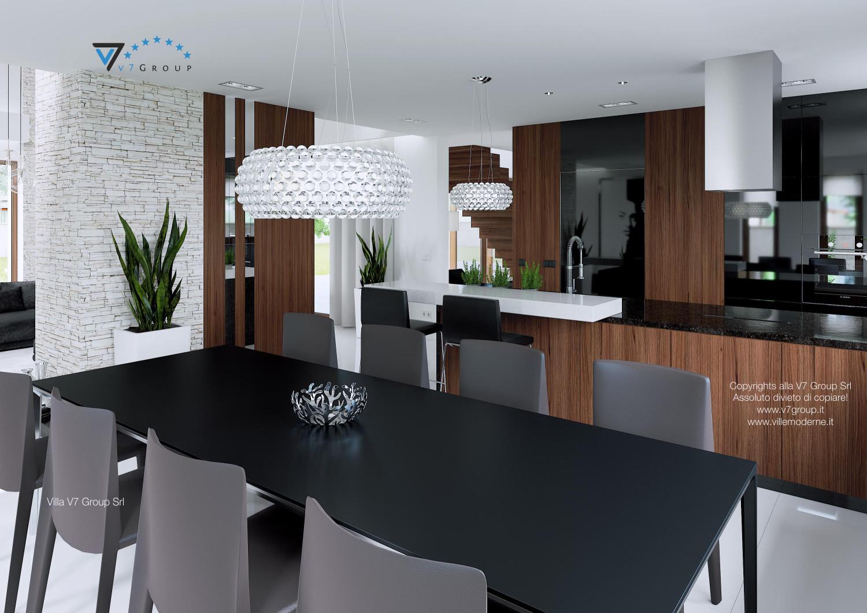 Immagine Villa V13 - il tavolo e le sedie grigie della sala da pranzo