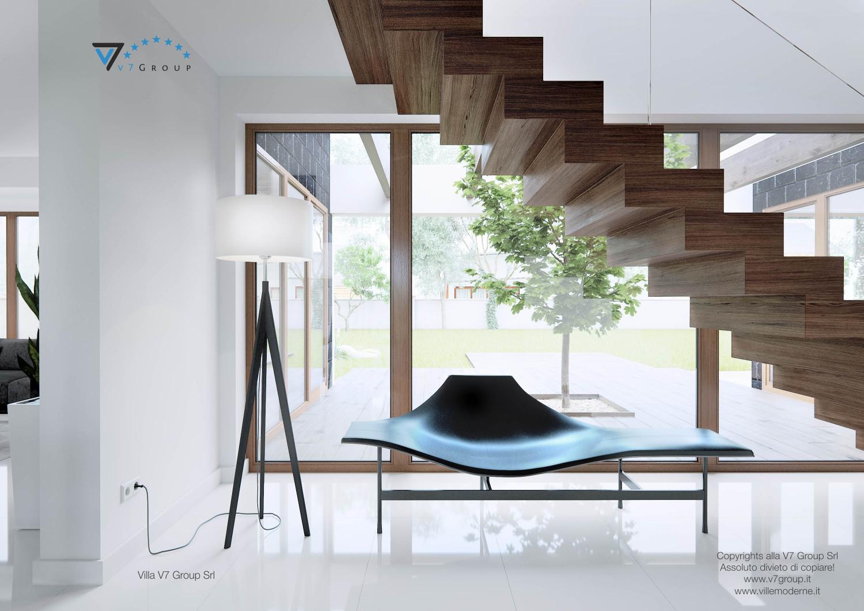 Immagine Villa V13 - il corridoio interno e le scale in legno