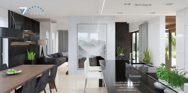 Immagine Villa V14 - interno 5 - sala da pranzo e corridoio