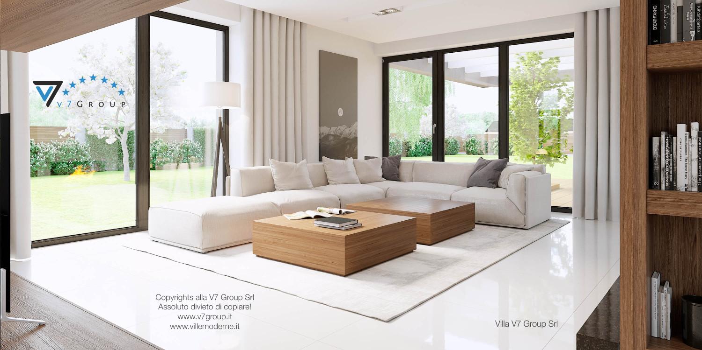 Immagine Villa V15 - il divano di color crema nel soggiorno