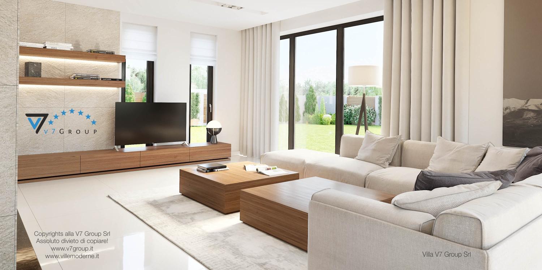 Immagine Villa V15 - il divano e la tv nera nel soggiorno