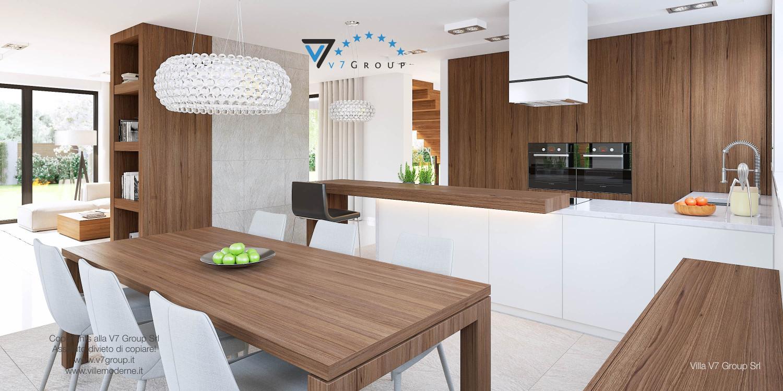 Immagine Villa V15 - la sala da pranzo e la cucina grande