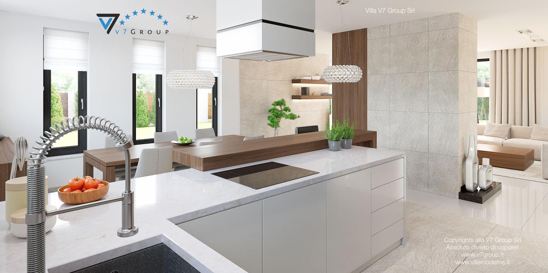 Immagine Villa V15 - i mobili moderni nella cucina grande