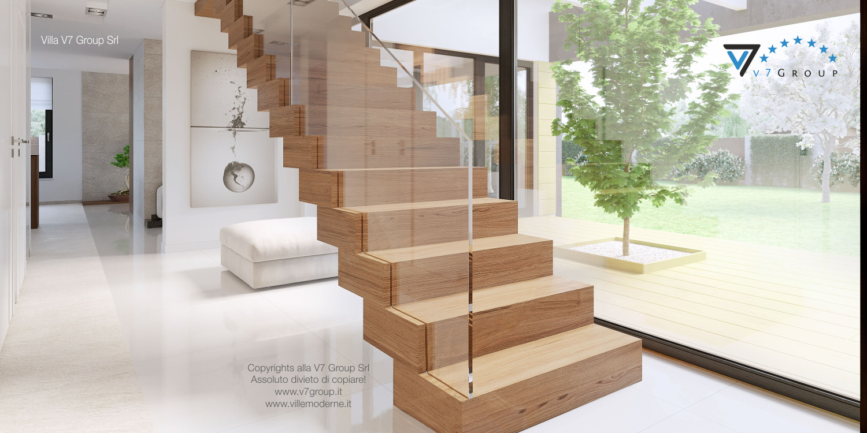Immagine Villa V15 - le scale in legno nobile in corridoio
