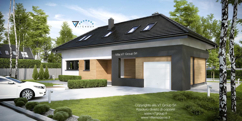 Immagine Villa V15 - il garage e l'entrata principale della villa