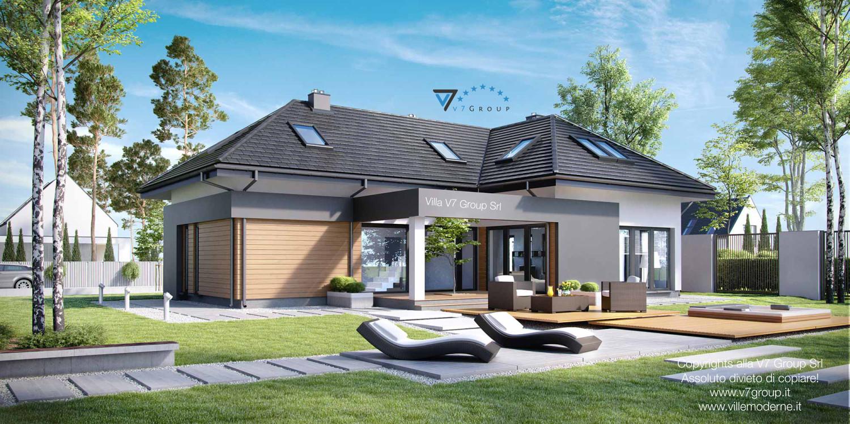 Immagine Villa V15 - il giardino grande della villa moderna