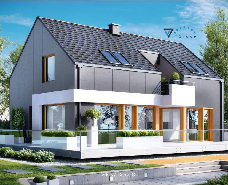 Immagine Villa V17 - il dettaglio del giardino e del terrazzo esterno