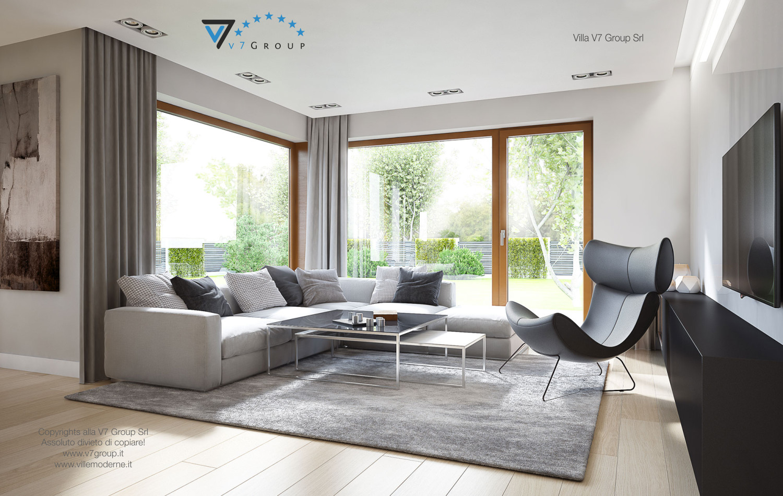 Immagine Villa V18 - la sistemazione del soggiorno