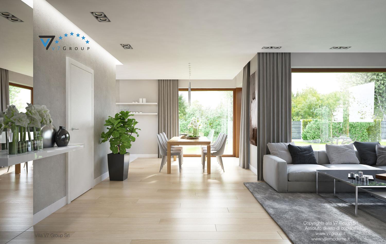 Immagine Villa V18 - la sala da pranzo e il soggiorno