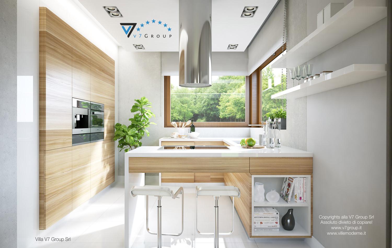 Immagine Villa V18 - la grande cucina interna della villa