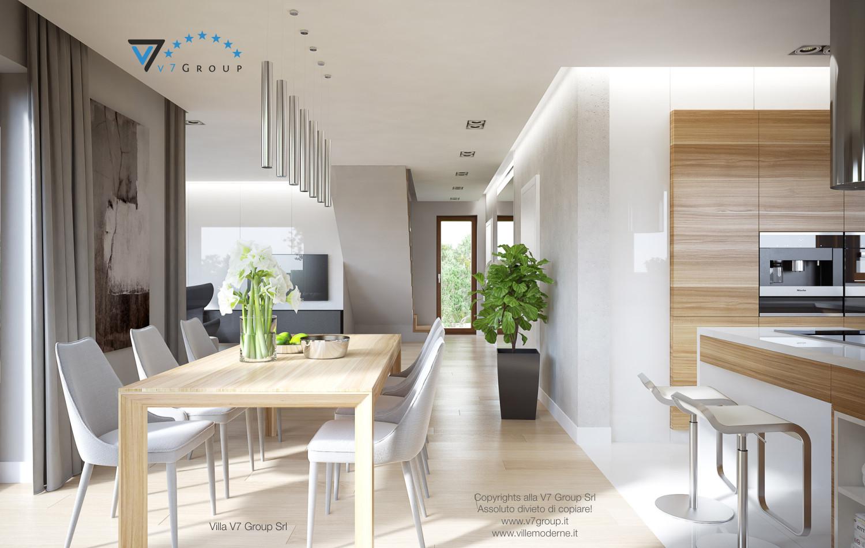 Immagine Villa V18 - la grande sala da pranzo e il corridoio