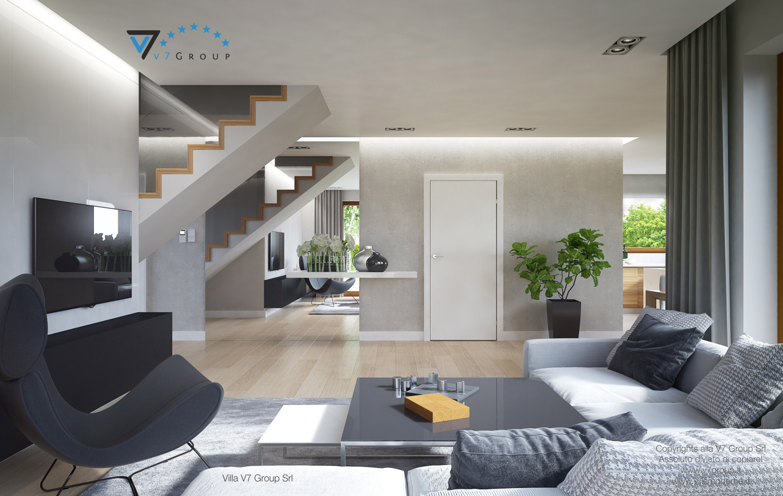 Immagine Villa V18 - il grande soggiorno e il corridoio interno