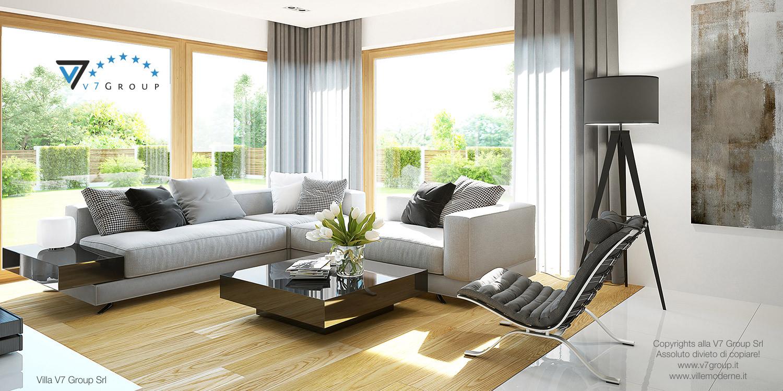 Immagine Villa V19 - il grande soggiorno interno moderno