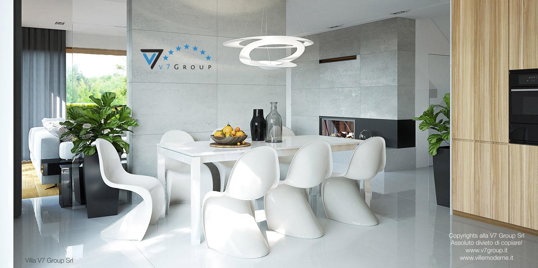 Immagine Villa V19 - la sistemazione della sala da pranzo