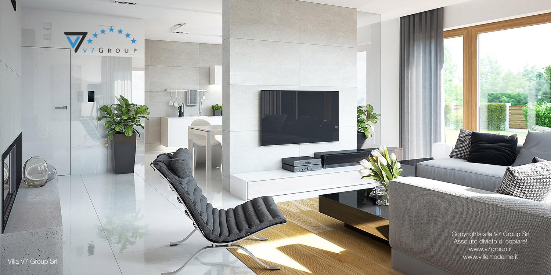 Immagine Villa V19 - la poltrona e la tv del soggiorno grande