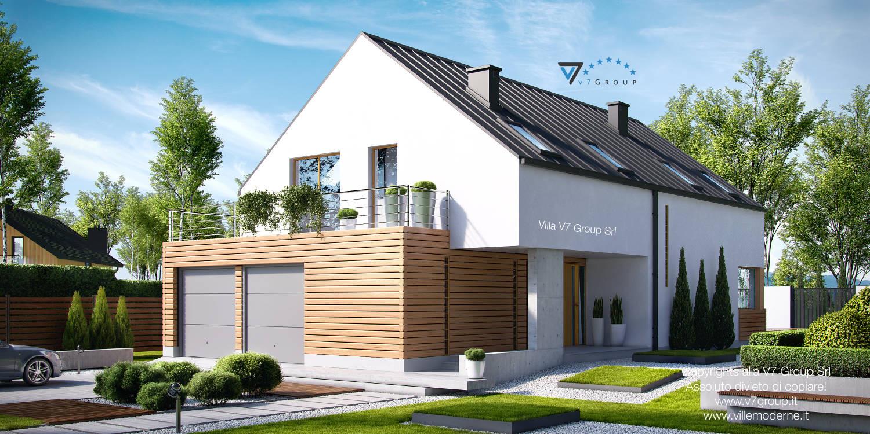 Immagine Villa V19 - il garage e l'entrata principale