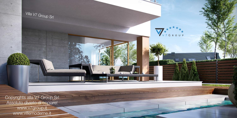 Immagine Villa V19 - la piscina esterna del fabbricato moderno