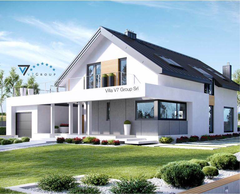 Immagine Villa V2 ENERGO - vista frontale in dettaglio