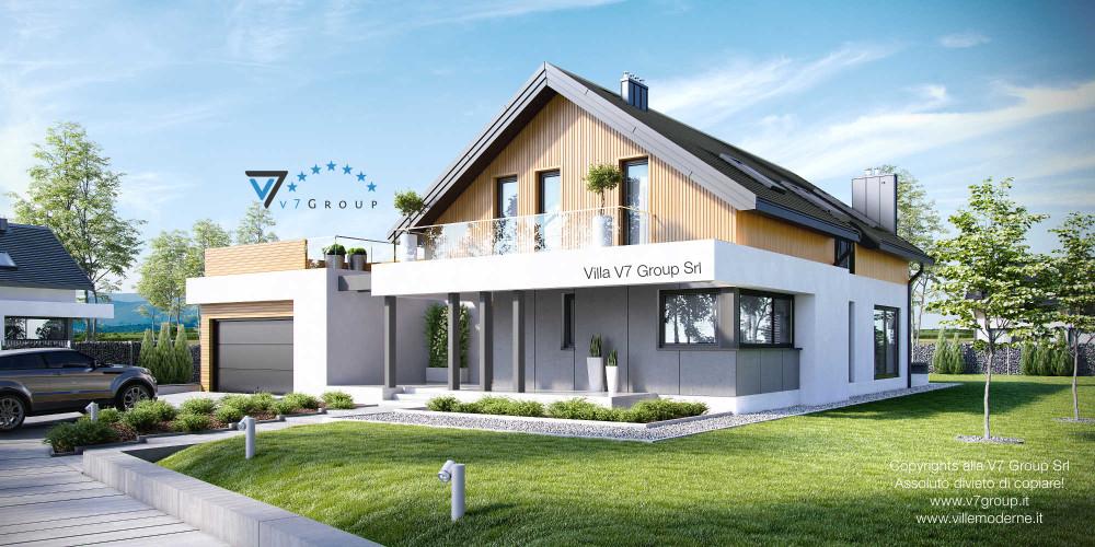 Immagine Villa V2 (G2) ENERGO - link - parte frontale della Villa V1
