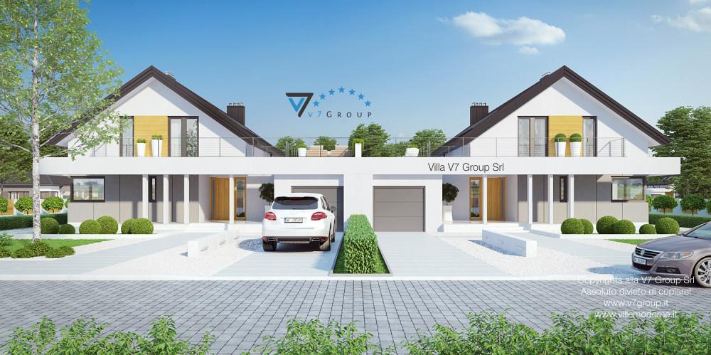 Immagine link Villa V2 (G2) ENERGO - variante 1 - vista frontale di Villa V2 (B)