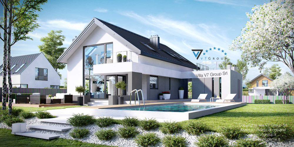 Immagine Villa V2 (G2) ENERGO - variante 1 - vista piscina Villa V2 ENERGO - link