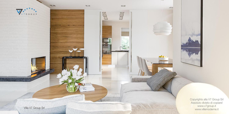 Immagine Villa V21 - interno 4 - soggiorno e sala da prano