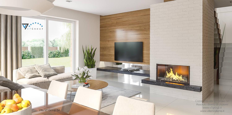 Immagine Villa V21 - interno 5 - soggiorno e corridoio